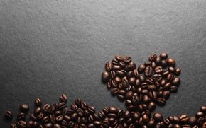 Picture background, heart, coffee, grain, love, heart, texture, background, beans, coffee, roasted