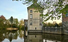 Wallpaper landscape, Nivelles, Medieval, architecture, Belgium, Seneffe, Arquennes, old, Hainaut, Castel, House, French, Lake, Renaissance, style, ...