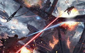 Picture rays, fight, Inspired by Doctor Strange, Space Battles Scenes