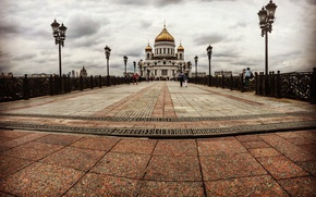 Picture city, temple, cathedral, moscow, cityscape, aristovart