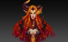 Wallpaper rendering, the game, art, Fei Liu, Favorite world of Warcraft