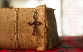 Picture cross, book, prayer