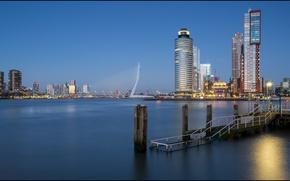 Picture lights, Netherlands, Holland, Rotterdam, Rotterdam