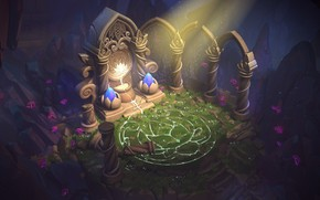Picture the game, fantasy, art, the altar, 3d, Anthony Trujillo, Ancient Civilization Challenge - Honourable Mentio