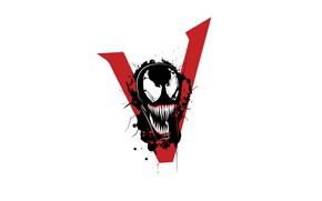 Wallpaper MARVEL, logo, venom, 2018, we are #venom, Venom, background, Sony, Logo