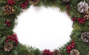 Picture tree, New Year, Christmas, bumps, merry christmas, decoration, xmas, frame