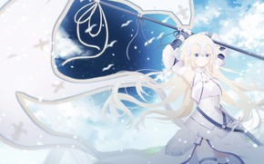 Picture anime, flag, girl, Fate / Grand Order