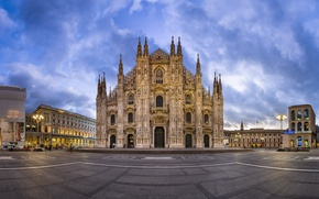Picture Italy, Cathedral, architecture, Milan