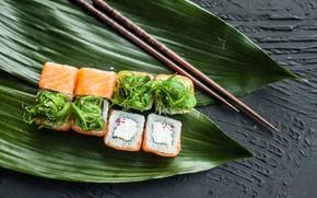 Picture sticks, figure, delicious, rolls, salmon