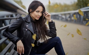 Picture look, pose, model, brunette, hairstyle, beauty, Angelina Petrova, Angelina Petrova, Javier Ullastres
