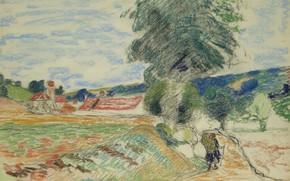 Picture figure, Landscape, Arman Hyomin, Armand Guillaumin