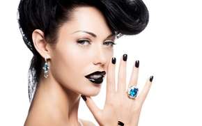 Picture girl, model, hair, makeup, ring, hairstyle, lips, decoration, earrings, manicure, Valua Vitaly