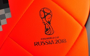 Wallpaper Red, The ball, Sport, Orange, Football, Russia, Adidas, FIFA, FIFA, World Cup 2018, Adidas Telstar ...