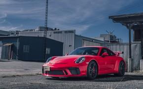 Picture Porsche, red, GT3