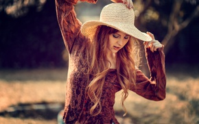 Picture pose, mood, hat, hands, red, redhead, Julia Wendt, Andreas-Joachim Lins