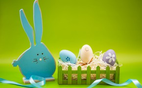 Picture eggs, rabbit, Holiday, Easter, figure