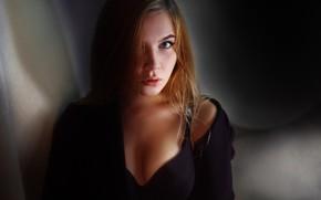 Wallpaper hair, face, chest, Pauline Moseikina, Alexander Drobkov-Light, look