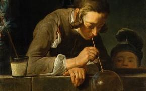 Wallpaper picture, Bubbles, Jean Simeon Chardin, genre, Jean Baptiste Simeon Chardin