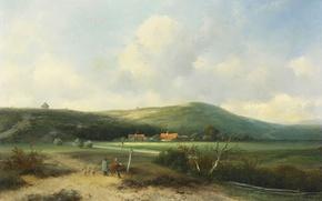 Picture landscape, picture, Dunes, Johannes Franciscus Hoppenbrouwers