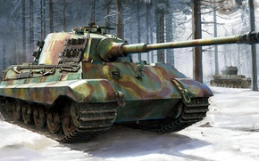 Picture King tiger, Tiger II, Royal tiger, Panzerkampfwagen VI, German heavy tank