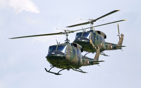 Wallpaper AB-212, Agusta-Bell, transport helicopter