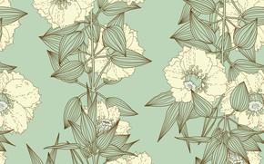 Picture flowers, texture, vintage