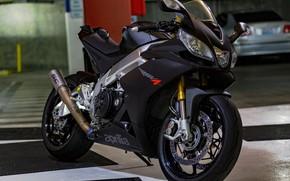 Picture black, motorcycle, Aprilia