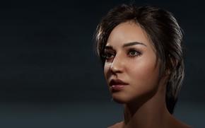 Picture girl, art, Nova Head in Unreal (WIP), Thomas Pecht