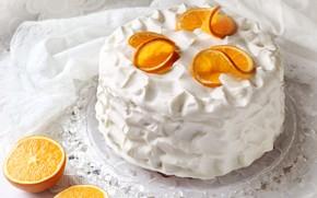 Picture orange, cake, cream