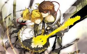 Picture girl, anime, art, guy, two, Vocaloid, Vocaloid, characters