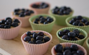 Picture dessert, cupcakes, Blueberries