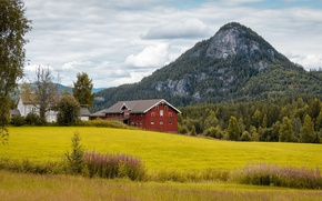 Picture mountain, Norway, farm, Norway