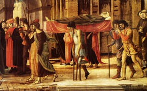Picture Munich, Giovanni Bellini, 1455, painting on wood, The Evangelist 2, Three Stories of Drusienne and …