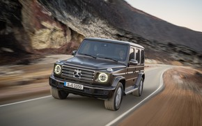 Picture road, movement, Mercedes-Benz, blur, 2018, G-Class