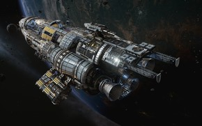 Picture space, planet, Fractured Space, Update Pass, USR Black Widow