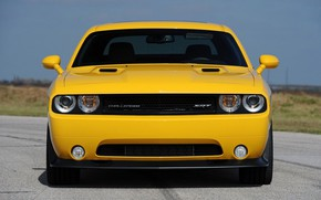 Picture Dodge Challenger, Yellow, Muscle car, Hennessey, 2013, SRT8 392