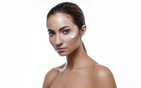 Picture face, model, Anna, cream