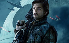 Wallpaper weapons, poster, rifle, Rogue One, Diego Luna, Diego Luna, Rogue-one: Star wars. History, fiction