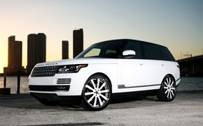 Picture wheels, Range Rover, color, Forgiato, lowered, matched