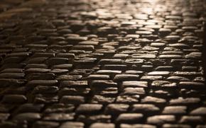 Wallpaper the city, street, pavers
