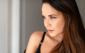 Picture look, face, model, portrait, makeup, hairstyle, brown hair, beauty, bokeh, Angelina Petrova, Angelina Petrova, Chris …