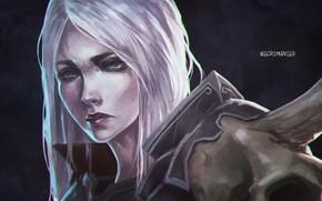 Picture face, art, diablo 3, necromancer, Diablo 3 Rise of the Necromancer