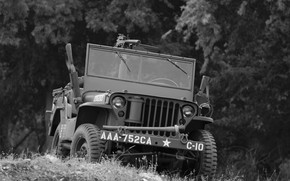 Picture war, car, army, Jeep, high, patency, world, Second, times, Willys MB