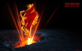 Picture light, bike, fire, flame, logo, the volcano, logo, logo, bicycle, cycle, specialized, spesh, cinema 4D