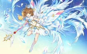 Picture girl, crystals, Card Captor Sakura, Crown