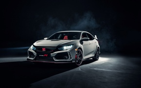 Wallpaper Honda, Type R, black background, civici, Honda, Civic