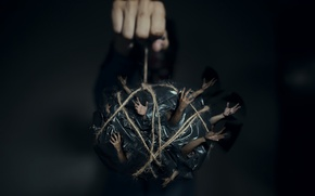 Picture background, hand, hands, rope