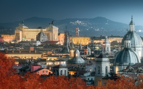 Picture autumn, night, the city, Rome, Italy