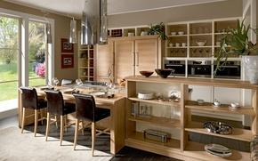 Picture design, Villa, interior, kitchen, dining room