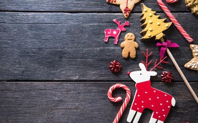 Picture decoration, New Year, cookies, Christmas, happy, Christmas, New Year, Merry Christmas, Xmas, gift, cookies, decoration, ...